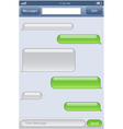 phone chat template vector image vector image