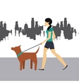 woman walking icon vector image