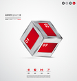 Modern cube infographic banners vector image vector image