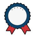award ribbon blank vector image