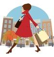 Fall shopping vector image