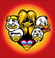 duck heads vector image vector image