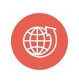 Earth design thin line icon vector image