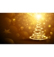 Christmas Magic Tree Gold vector image