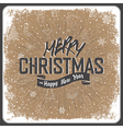 merry christmas card vintage vector image vector image