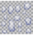 Set of Transparent Water Drops vector image vector image
