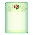 frame with roses background vector image vector image