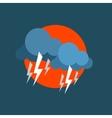 Strong Lightning Storm Natural Force Sticker vector image