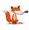 cartoon funny fox character vector image