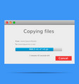 copy file data exchange vector image