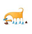 funny cute dog cartoon vector image