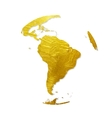 Globe Golden Grunge Icon vector image