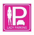 lady parking zone vector image