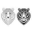 Ornamental Tiger Set vector image