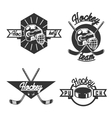 vintage Hockey emblems vector image