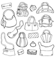 Womens handbags Hand drawn Set 3 vector image