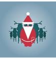 Santa and his Reindeer Gang vector image