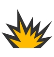 Boom Explosion Flat Icon vector image