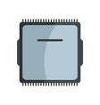 Flat hardware cpu icon for repair service design vector image