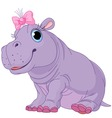 cartoon hippo vector image