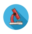 Microscope icon vector image