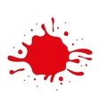 red paint stain isolated icon design vector image