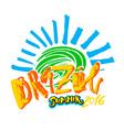 Brazil 2016 hand lettering vector image