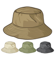 Bucket hat collection vector image