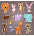 cartoon zoo animals vector image