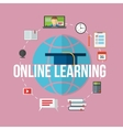 Concept for distance education online learning vector image