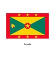 grenada flag vector image