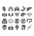 Human organs black icons set vector image