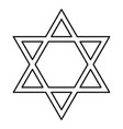 jewish star of david black color icon vector image