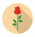 Red rose flower flat icon vector image