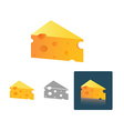 Tasty Cheese in different design vector image