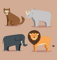 wild animal cartoon vector image