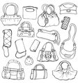 Womens handbags Hand drawn Set 2 vector image