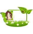 greeting card with fairy vector image