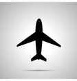 Plane simple black icon vector image