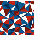 blue and red triangle seamless vector image vector image