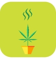 Marijuana odor icon vector image