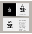 Greeting card coffee cup design vector image