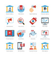 Media Advertising Flat Design Icons vector image