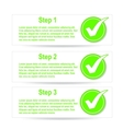 Numbered banners with check mark stickers vector image vector image