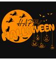 Halloween-yellow vector image