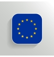 Button - Europe Flag Icon vector image