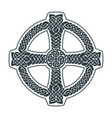 celtic cross ethnic ornament geometric vector image