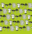 collection of mushrooms seamless pattern vector image