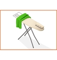 ironing table 3d vector image
