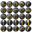 Kitchen buttons set vector image